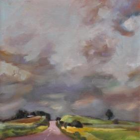 Liz's Road (study) 12x12