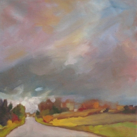 October Sky on the 6th (study) 12x12