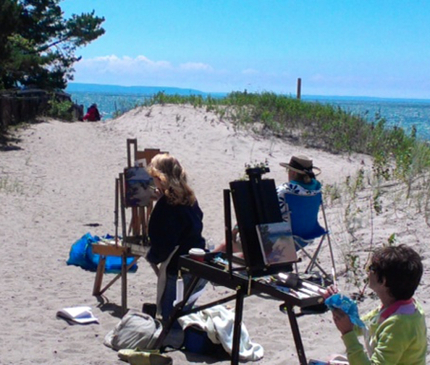 Plein Air on the Bay — a beautiful day.